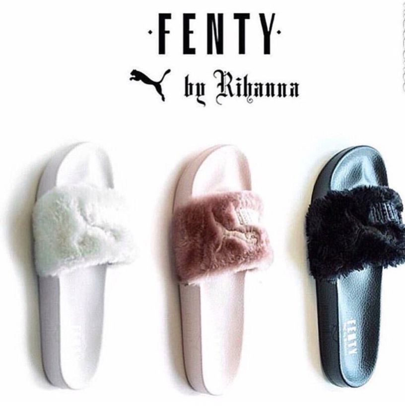 new style 0f2af ca1d7 RIHANNA IS CHARGING $90 FOR PUMA FENTY FUR SLIPPERS ...