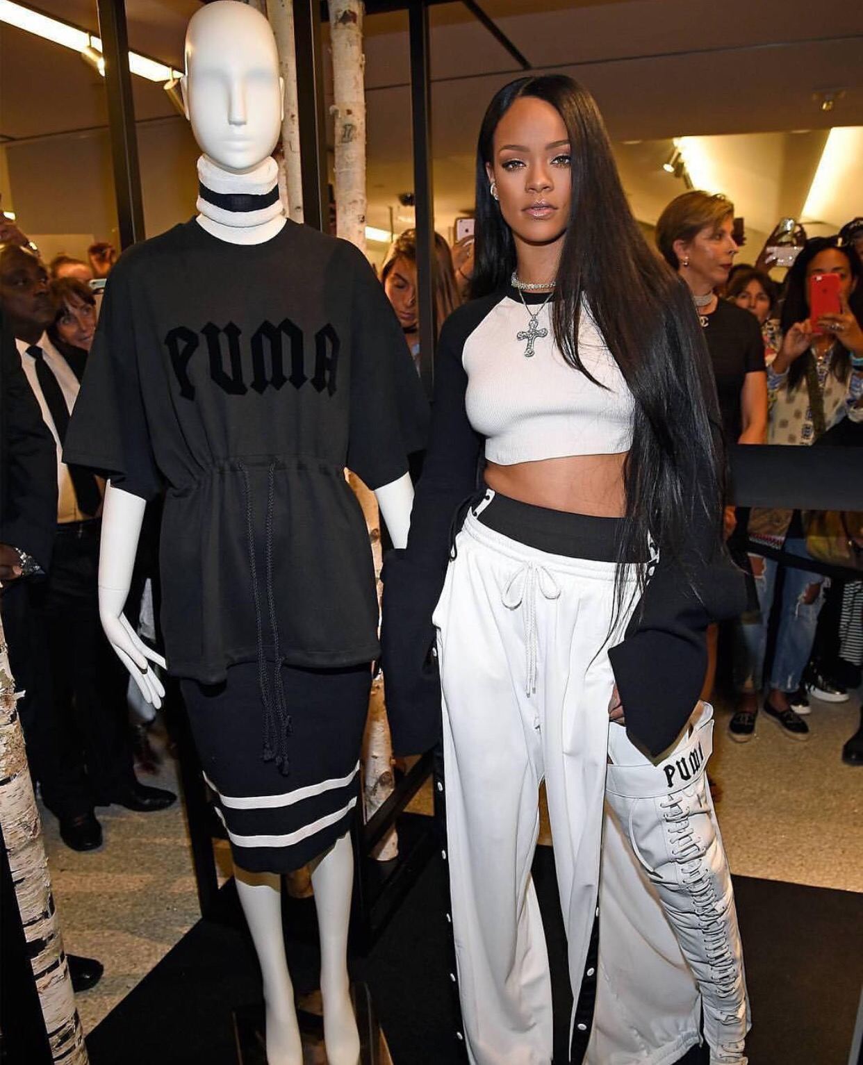 Rihanna debut The Fenty x Puma collection at Bergdorf Goodman in New York  City on Sept 6 52f4d87a2b12